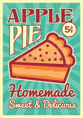 Vintage : Apple pie poster