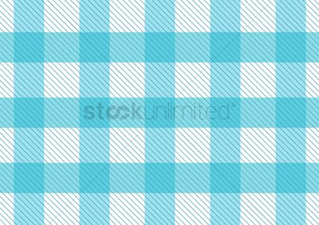 Vintage : Blue pattern picnic tablecloth