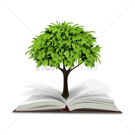 Concepts : Book with tree
