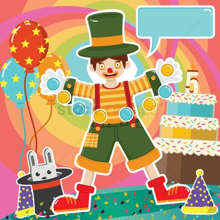 Celebration : Clown at birthday party