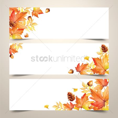 Environment : Collection of autumn themed banner