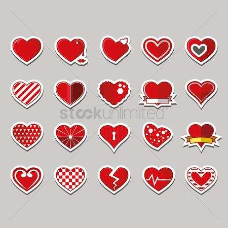 Romantic : Collection of heart shape