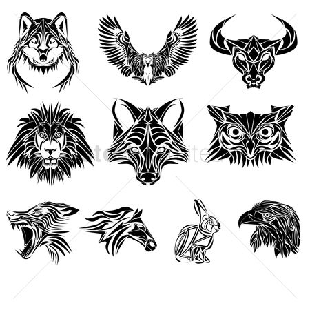 Animal : Collection of various animal tattoos
