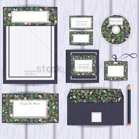 Floral : Corporate identity elements