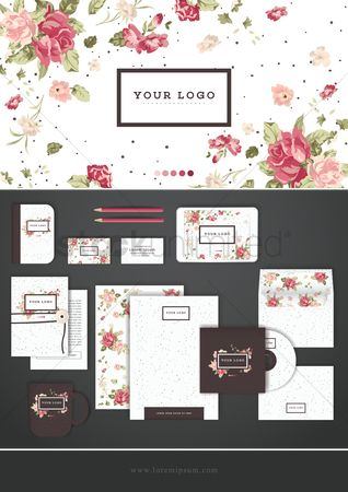 Floral : Corporate identity wallpaper