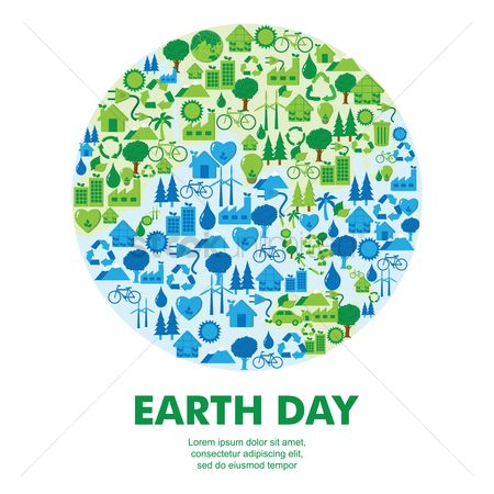 Water : Earth day icon concepts