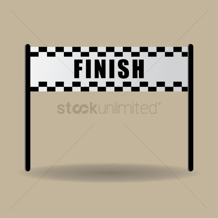 Free Finish Line Banner Stock Vectors | StockUnlimited