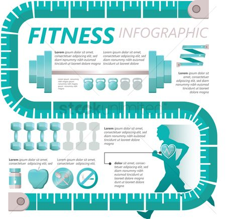 Infographic : Fitness concept