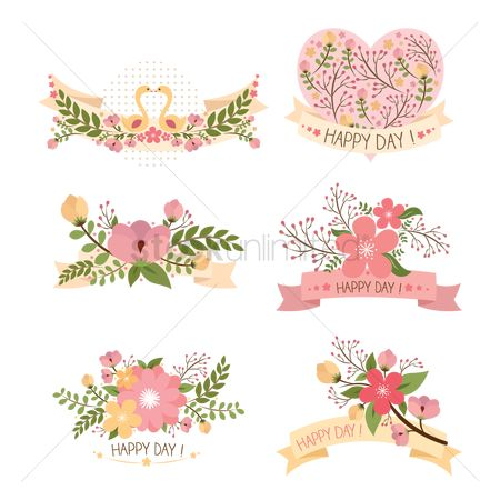 Banners : Floral designs