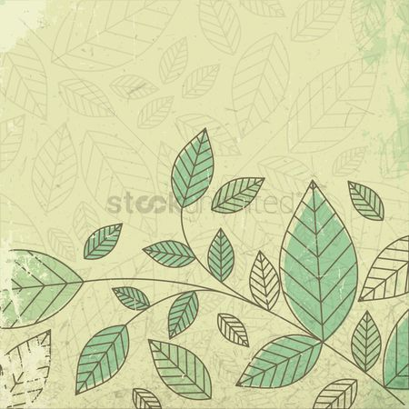 Grunge : Floral grunge background