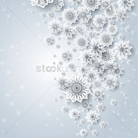 Background : Floral snowflakes design background