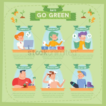 Banners : Go green infographic