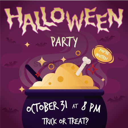 Party : Halloween party poster