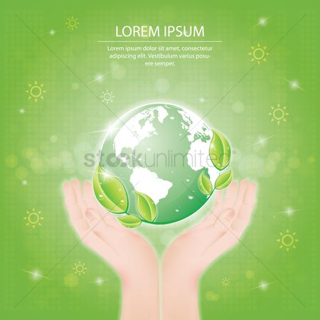 Leaf : Hands holding a globe