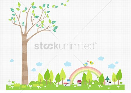 Environment : Houses near a big tree
