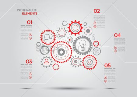 Business : Infographic elements with cogwheels