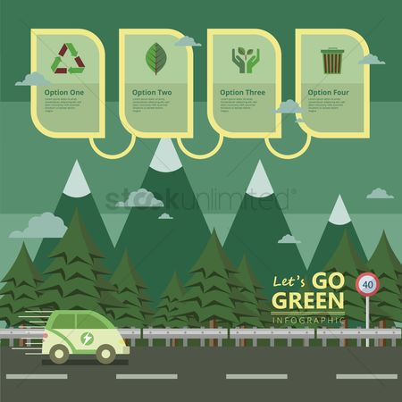 Environment : Infographic of go green