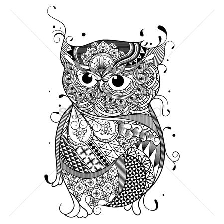 Animal : Intricate owl design