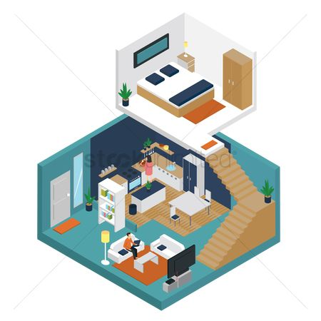Interior : Isometric house