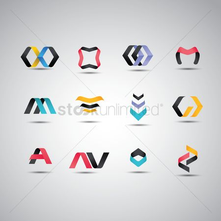 Icon : Set of abstract logos