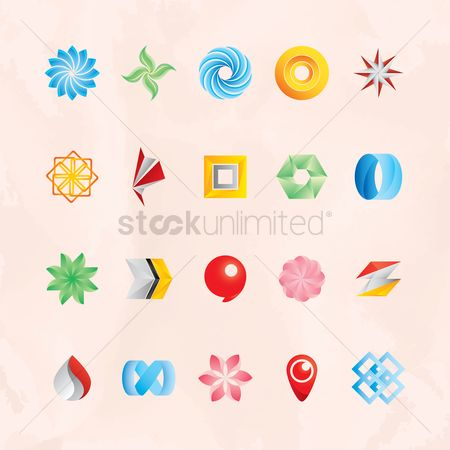 Star : Set of abstract logos