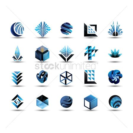 Icons : Set of abstract logos