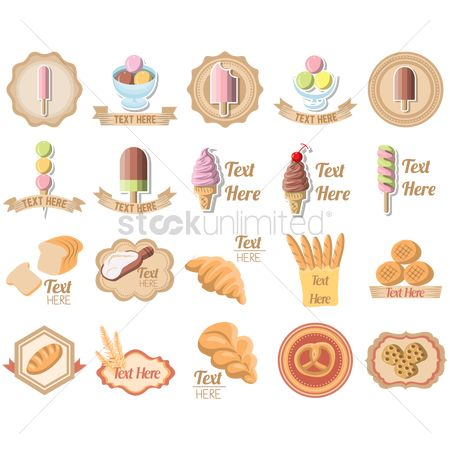 Banners : Set of bakery icons