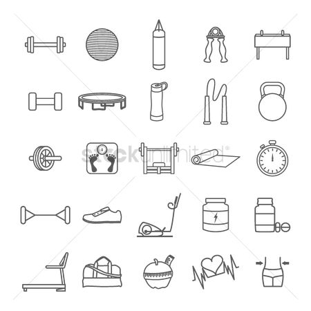 Heart : Set of fitness icons