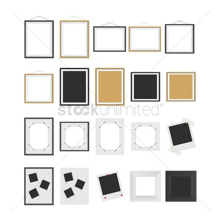 Interior : Set of frame icons