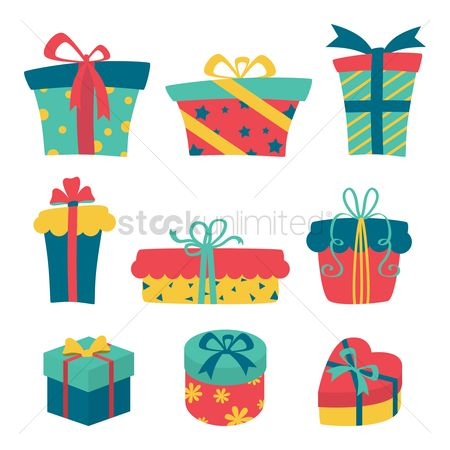 Ribbon : Set of gift boxes