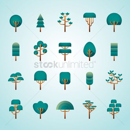 Environment : Set of tree icons