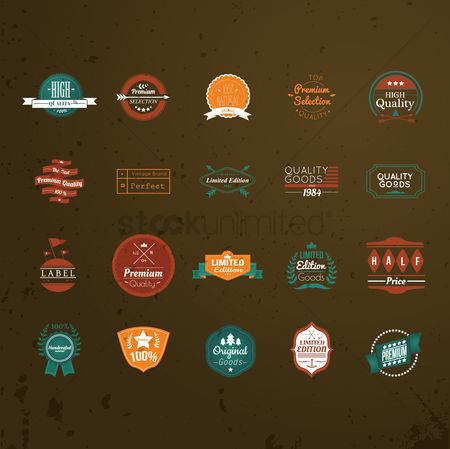 Vintage : Set of vintage badges
