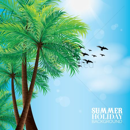 Sun : Summer holiday background