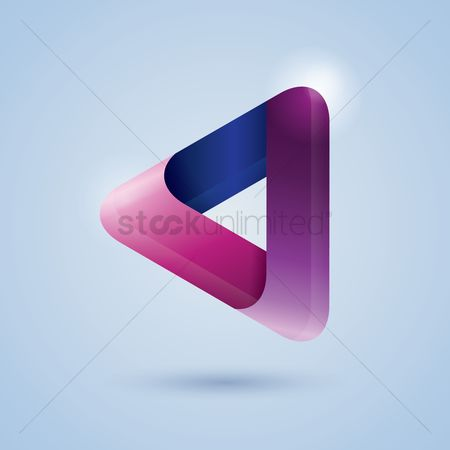 Ribbon : Triangle ribbon icon