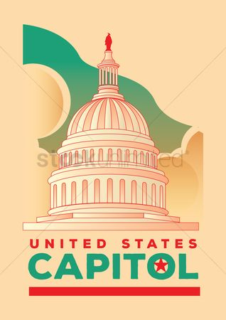 Buildings Landmarks : United states capitol poster