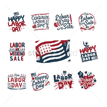 Star : Us labor day labels