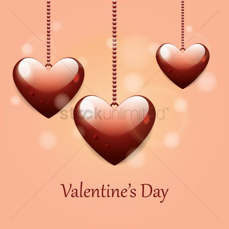 Romantic : Valentines day greeting card