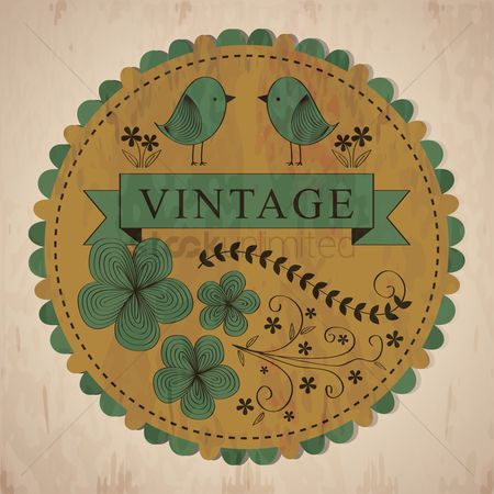 Star : Vintage label