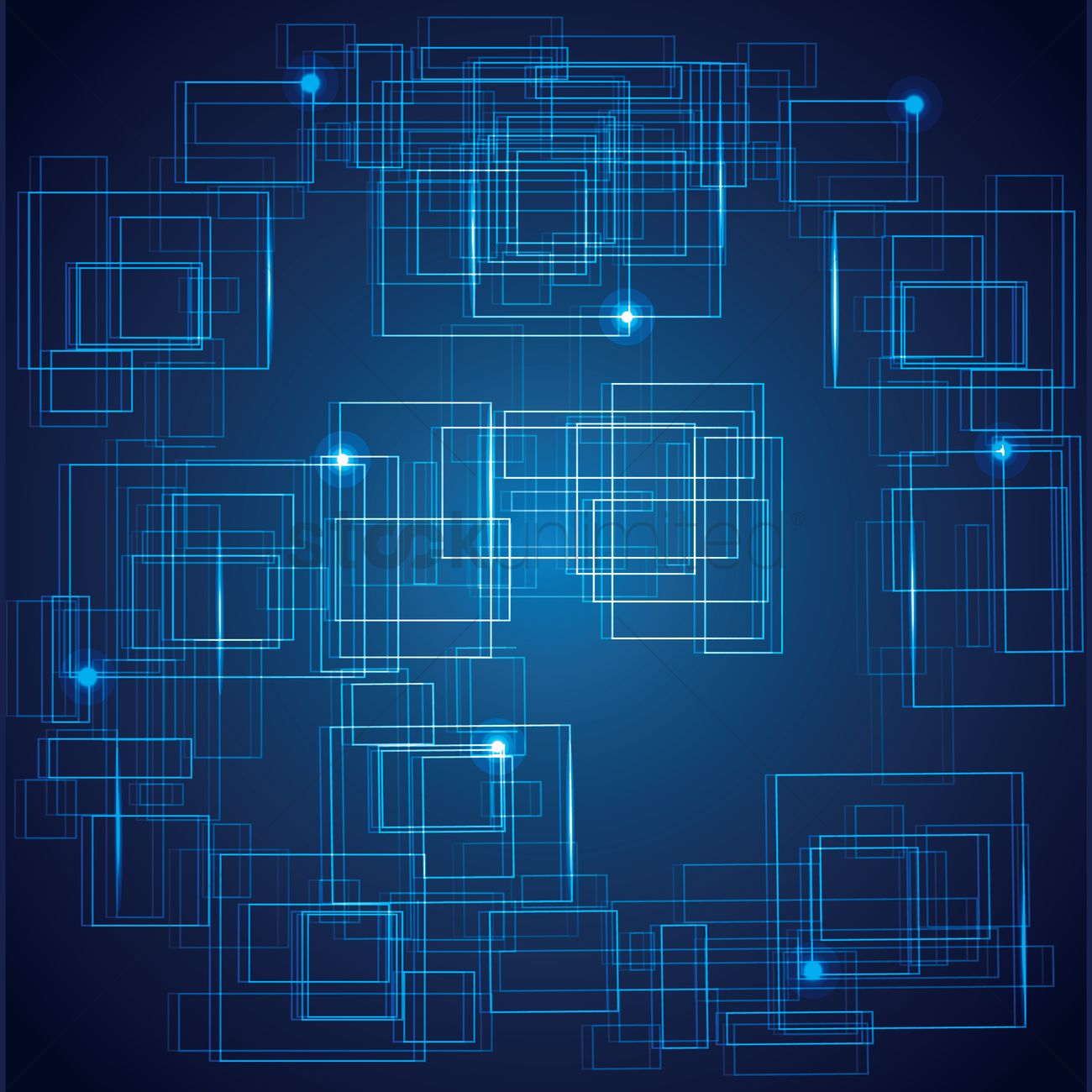 Abstract Computer Blue Background Vector Image