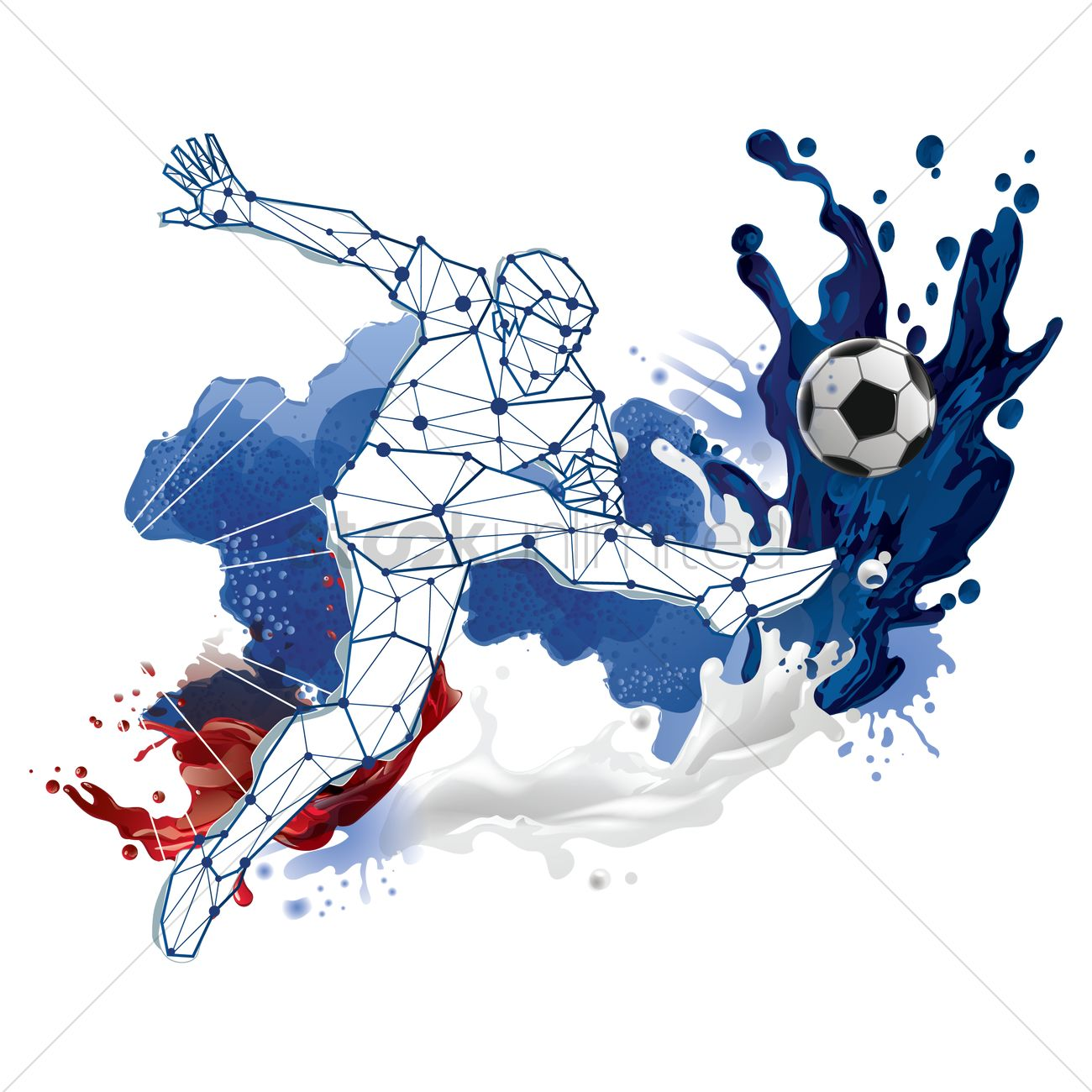 Abstract soccer player design Vector Image - 1818055 ...
