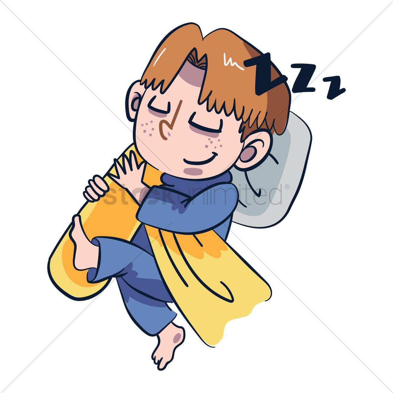 Cartoon Character Sleeping Vector Image 1957487
