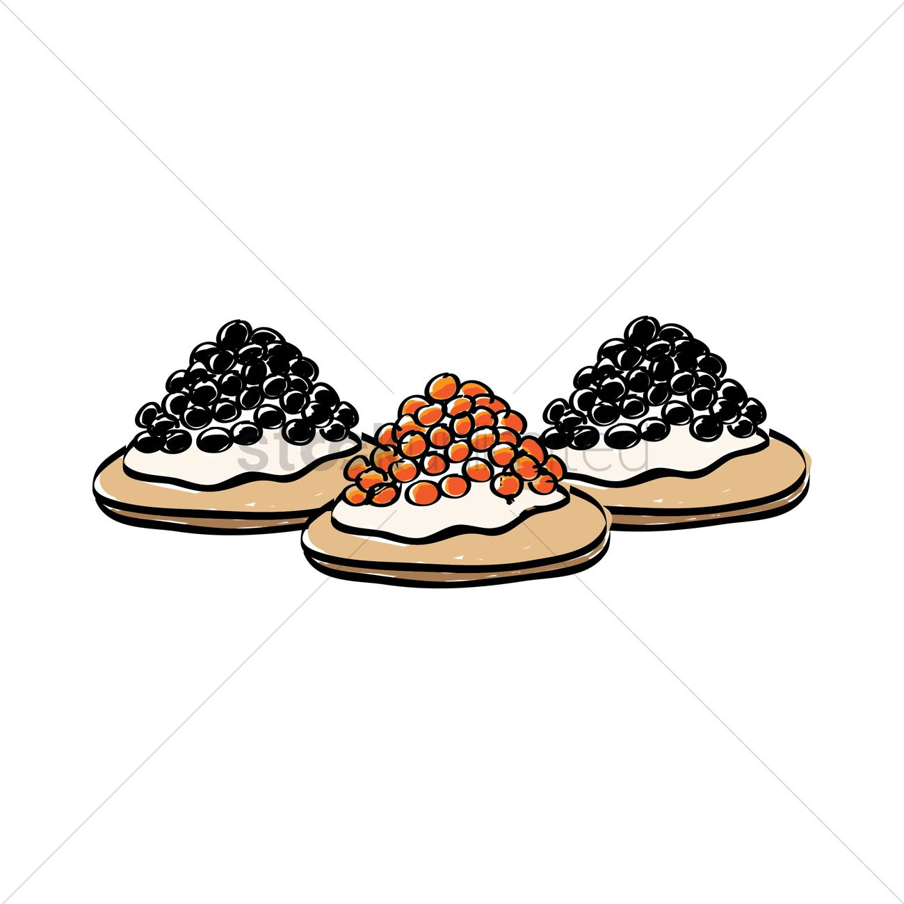 Caviar canapes vector image 1413155 stockunlimited for Canape vector download