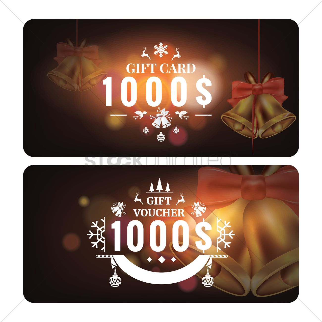 Christmas gift card Vector Image - 2009203 | StockUnlimited