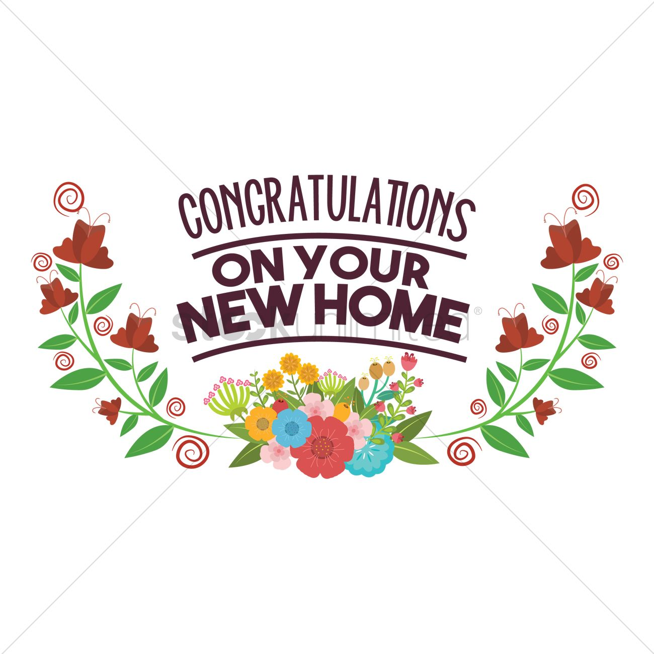 Congratulations on your new home vector image 1797295 for Ome images