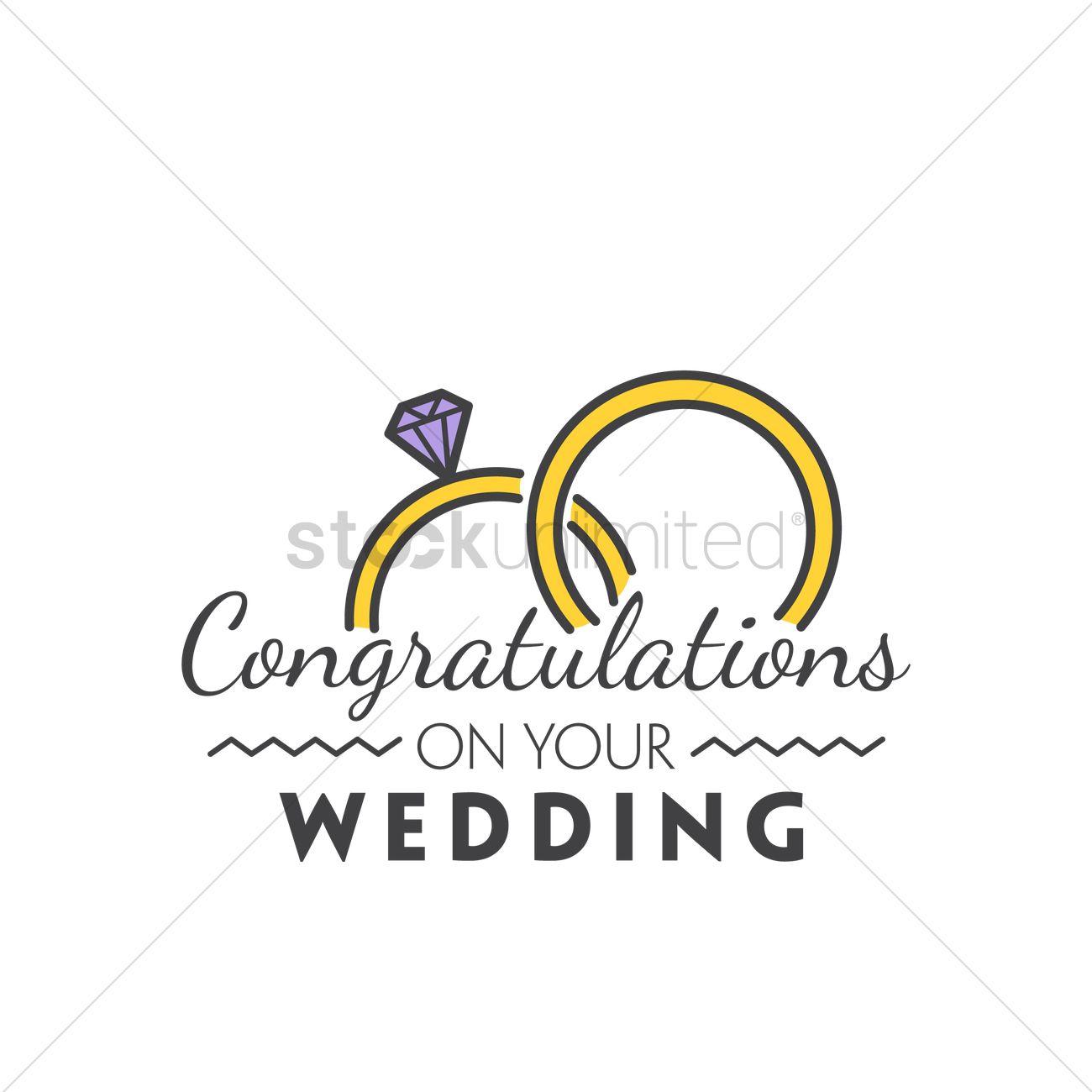 Congratulations On Your Wedding Vector Image 1791227