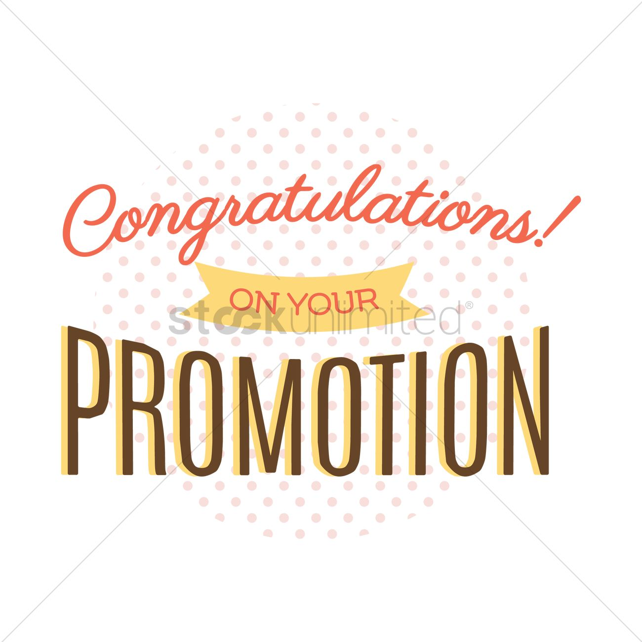 Congratulations Quotes New Job Position: Congratulatory Message On Job Promotion Vector Image