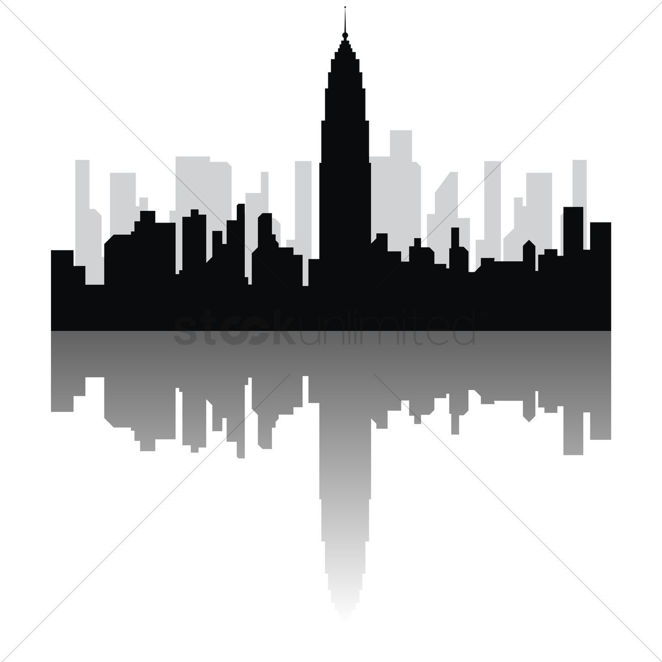 Empire State Building Silhoutte Png