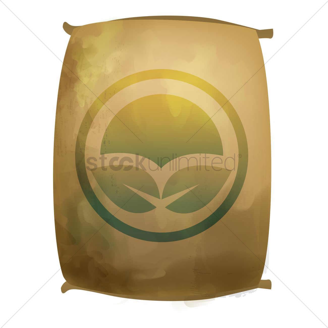 fertilizer sack bag vector image 1822375 stockunlimited
