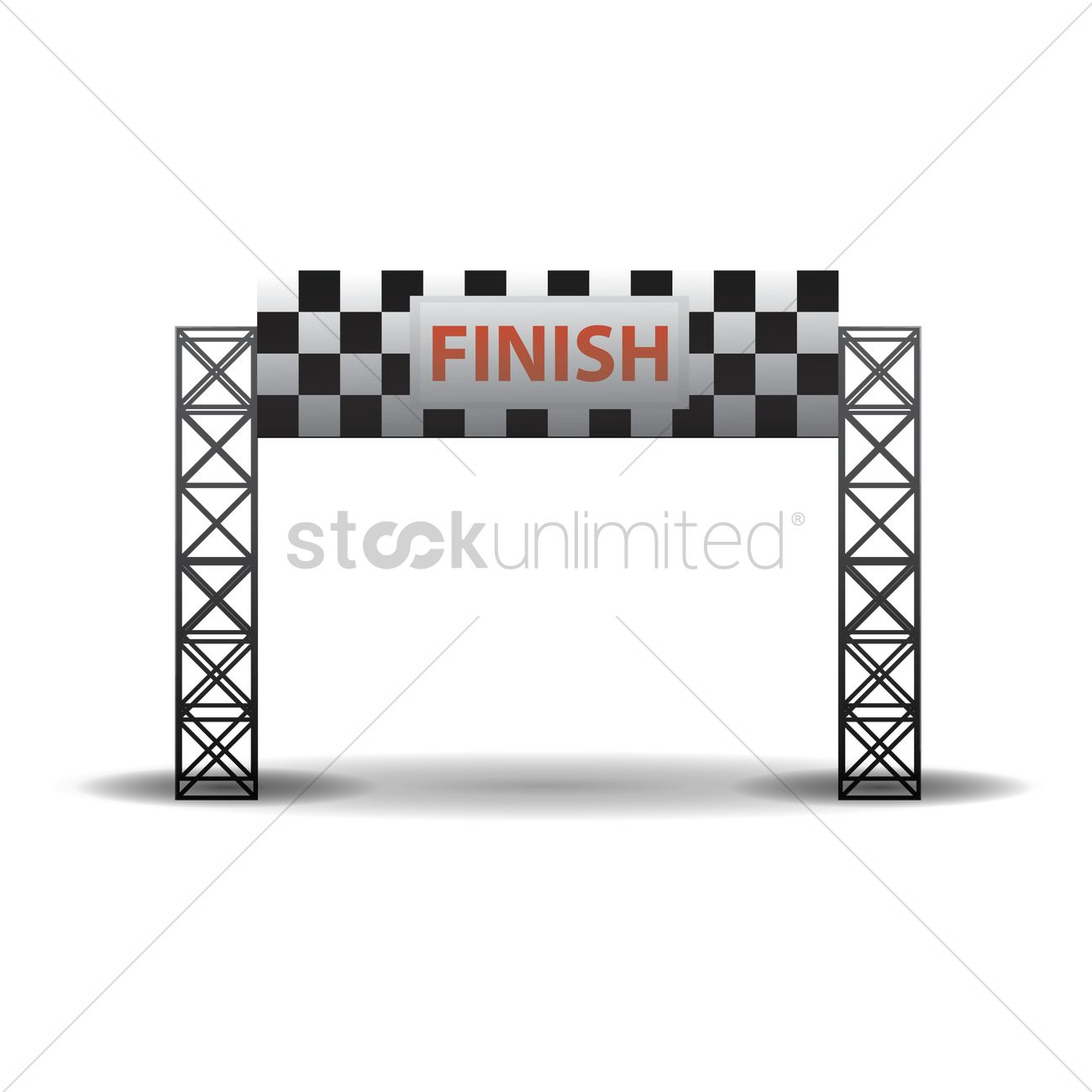 Finish Line Banner Vector Image 1432187 Stockunlimited