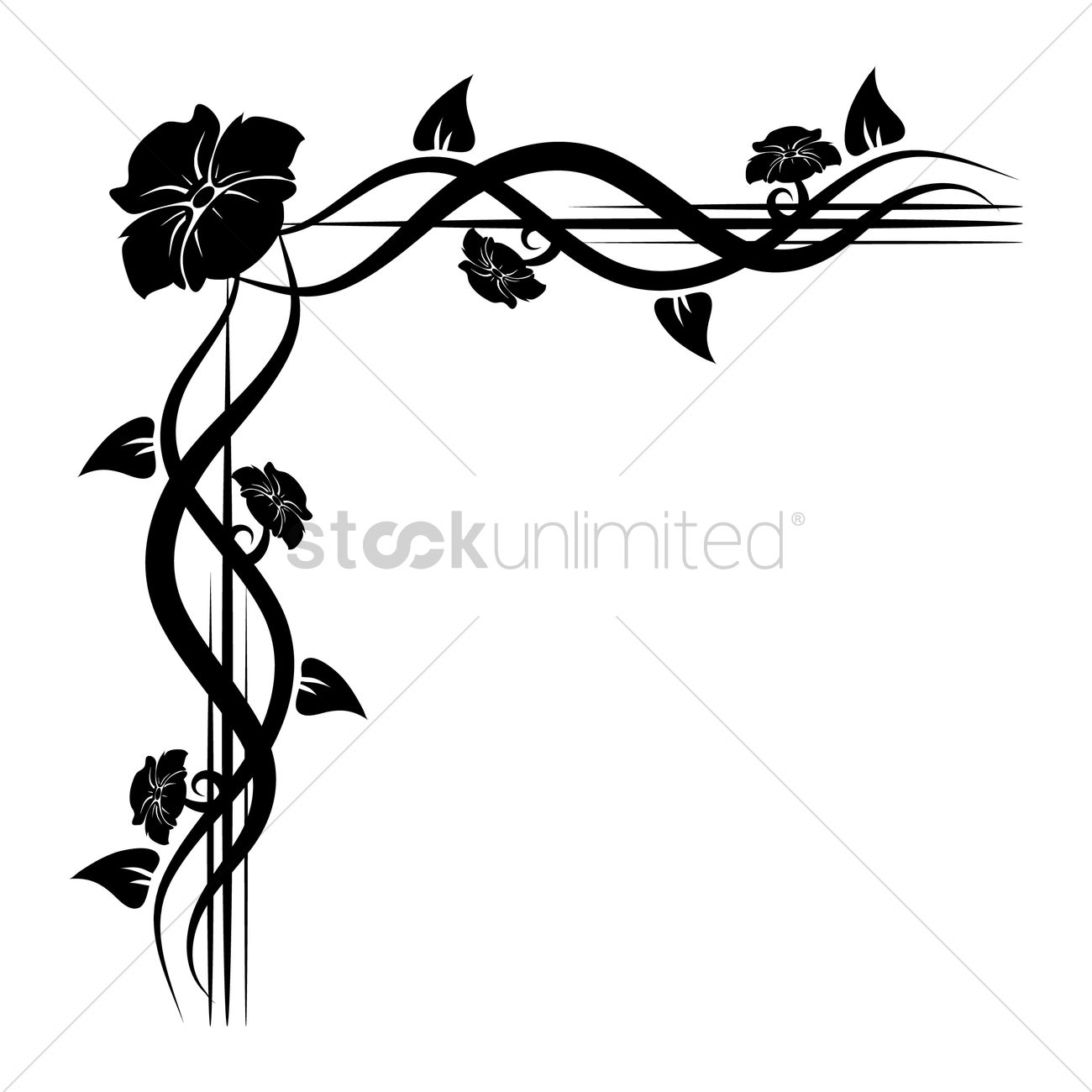 floral corner design vector image 1626883 stockunlimited